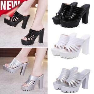 Women-Wedges-Platform-Slippers-Summer-Open-Toe-Beach-Thick-High-Heels-Sandals