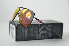 NEW Oakley Deviation Sunglasses Polished Black/Ruby Iridium OO4061-04