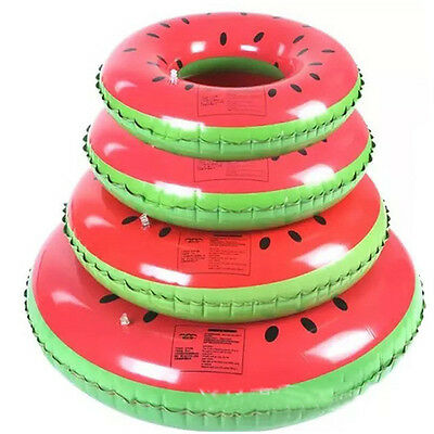 Watermelon Swim Ring Swimming Pool Toy Inflatable Kids Adults Floating Fun