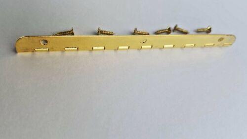 Dolls House Hinges With Screws 100mm Jewellery Box Lid Door Brassed
