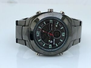 Zoo-York-Men-Watch-Dual-Time-Analog-Digital-Wrist-Watch-Gunmetal-Black-Read-Desc