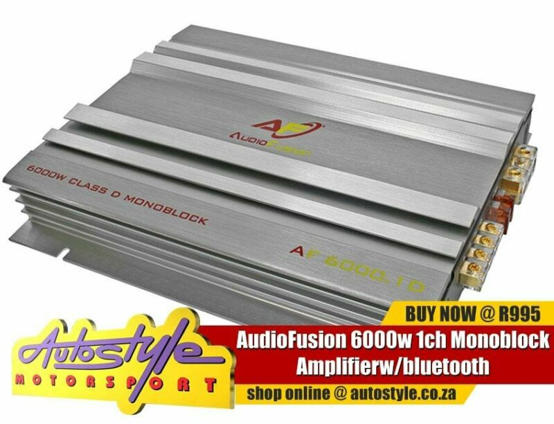 AudioFusion 6000w 1ch Monoblock Amplifier - 6000w peak power - 400 rms  4ohm - 500 rms  2 ohm - 62