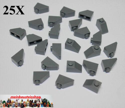 Gray Nuovo 25x LEGO ® 3040 Pietre Tetto Roof Slope 1x2 45 ° Nuovo Grigio scuro Dark BL