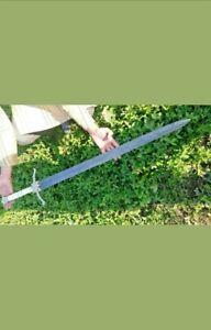 Blacksmith-New-Custom-Handmade-Damascus-Steel-Viking-Medieval-Sword-Bone-Handle