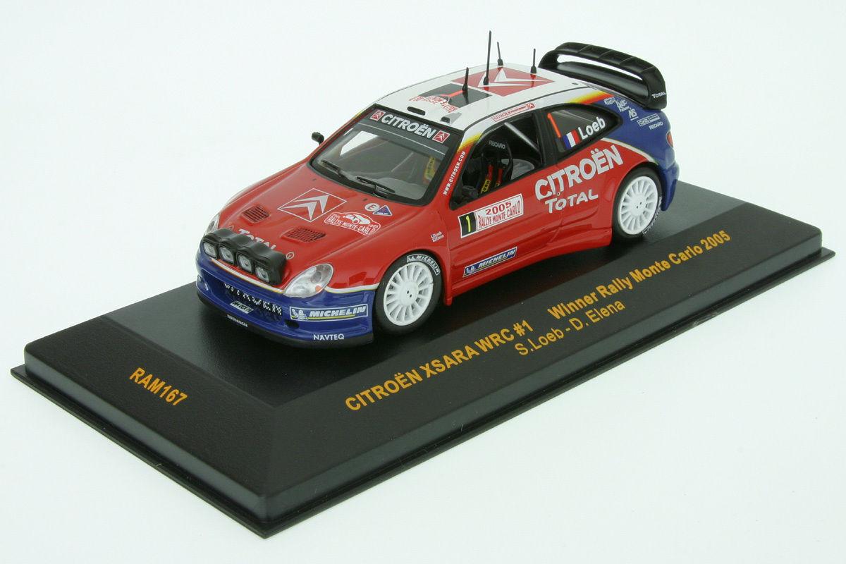 CITROEN XSARA WRC  1 LOEB ELENA WINNER MONTE CARLO 2005 IXO RAM167 RALLY RALLYE