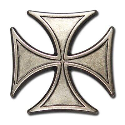 "5320-CC 1 1//8/"" Antiqued Nickel Maltese Biker Iron Cross Decorative Metal Piece"