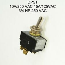 Carling 2gk54 73 Dpst Toggle Switch 10a 250 Vac 15a 125vac 34 Hp 250 Vac