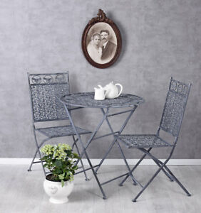 Details about Vintage salons garden table & two chairs antique style  furniture set- show original title