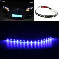 4x 30CM 15 LED Lichterkette Strip Streifen blau Wasserdicht 12V ET