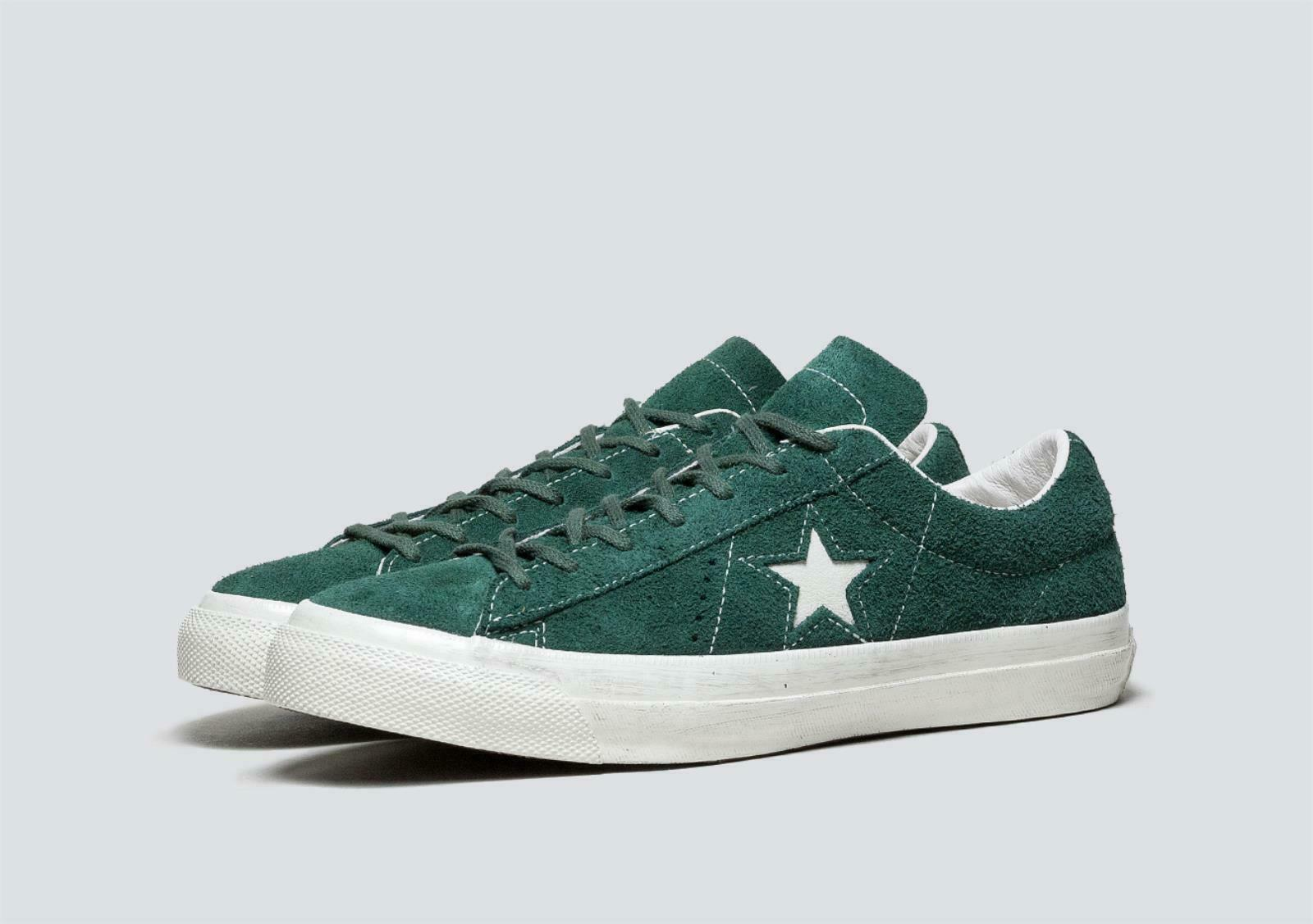 Converse John Varvatos One Star Green Sneakers shoes 9.5 UK US 43 EU 158939C New