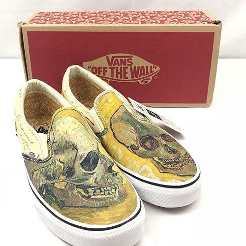Men V AN x Vincent Van Gogh Museum Skull Slip-On Old Skool Shoes Classic