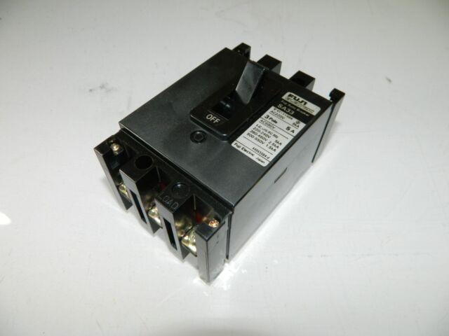 Fuji Auto Circuit Breaker, SA33, 5 Amp, 3 Pole, Used, WARRANTY