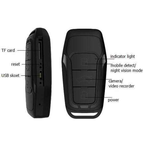 Full HD Überwachung Mini Kleine Schlüsselanhänger Kamera Spycam Spionage A223