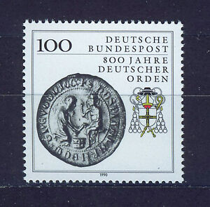 ALEMANIA-RFA-WEST-GERMANY-1990-MNH-SC-1595-Teutonic-Order-800th