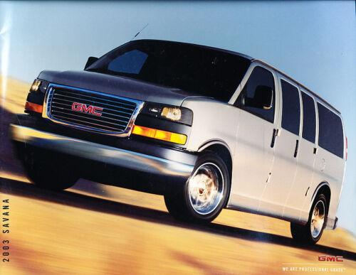 2003 GMC Truck Savana Van 12-page Original Sales Brochure