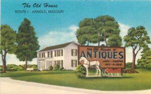 Arnold-Missouri-Antique-Store-Old-House-1940s-Postcard-linen-MWM-12415