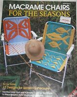Plaid Ent. Pattern Book Macrame' Chairs For The Seasons 8700 By Liz Miller ©1992