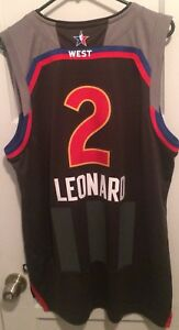 half off 79e88 92fd7 Details about Kawhi Leonard Toronto Raptors All Star Game Jersey Men L Nwt  Adidas Nba Klaw