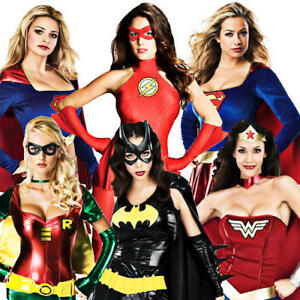 Image is loading Sexy,Superhero,Costumes,Womens,Comic,Book,Movie,Ladies,