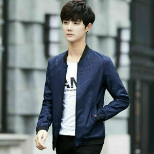 Autumn-Mens-Jacket-Korean-Fashion-Slim-Casual-Baseball-Coat-Outwear-Overcoat