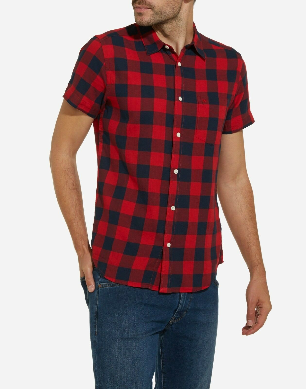 Wrangler SS 1PKT Shirt (Red)