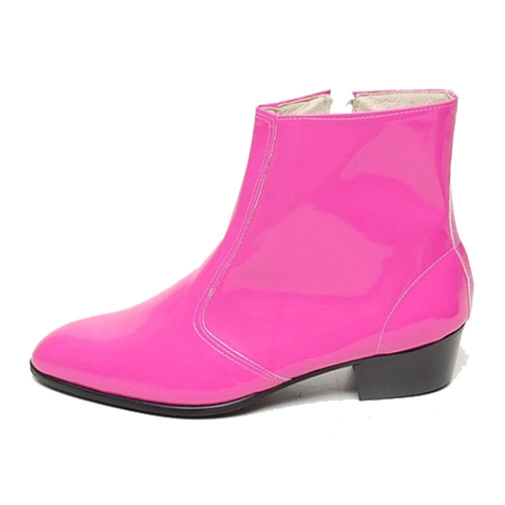 Epicsnob Zapatos para Hombre de De Cuero Genuino De de Vaca Corea Vestido Con Cremallera Botas al tobillo Botines bb2078