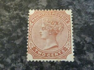 MAURITIUS POSTAGE STAMP SG102 TWO CENTS VENETIAN RED MINT NO GUM