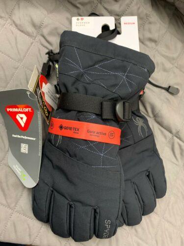 Spyder Overweb Goretex Insulated Ski Snowboard Snow Gloves Black NWT Mens XL