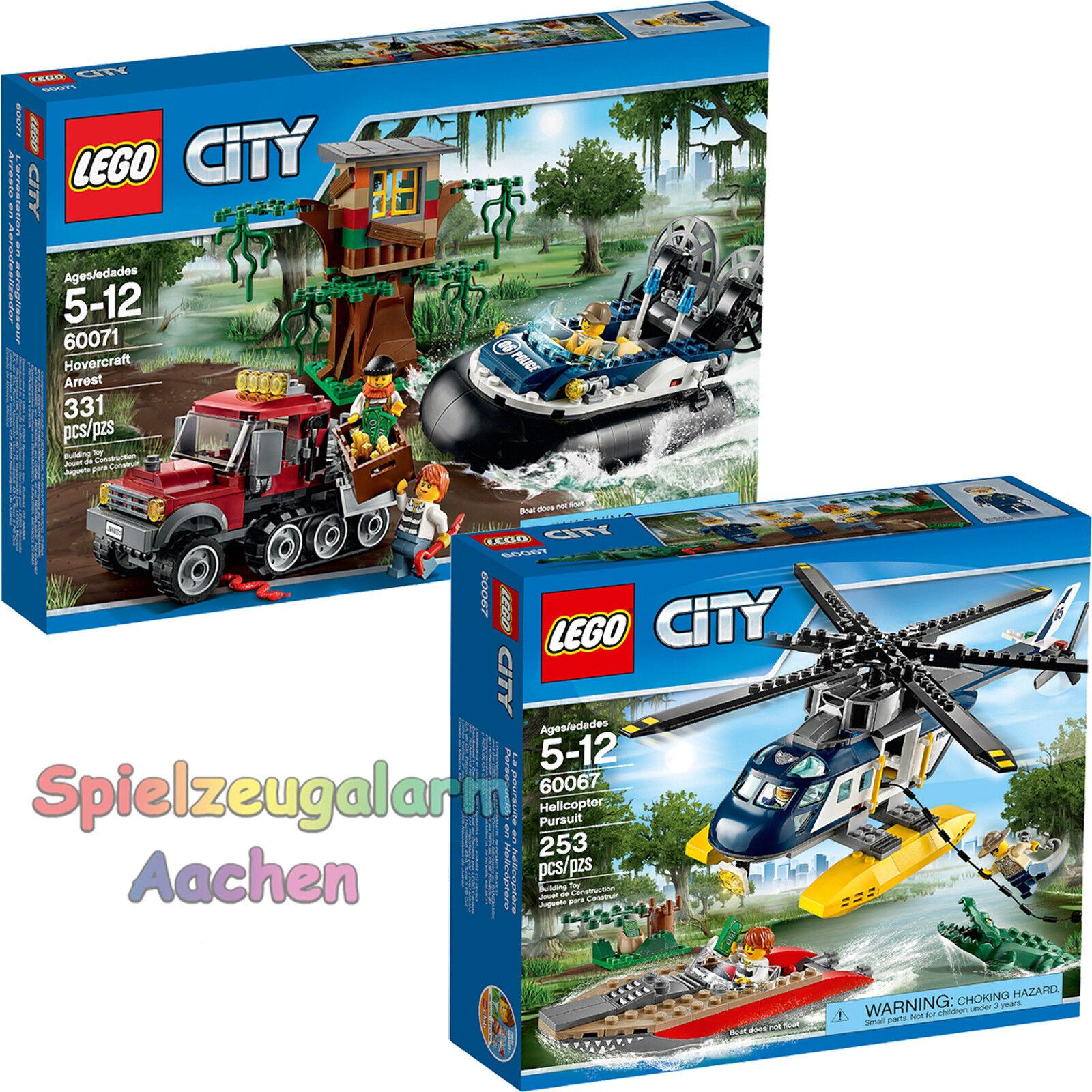 LEGO CITY Set 60067 Verfolgungsjagd im Hubschrauber 60071 Verbrecherjagd im Luft
