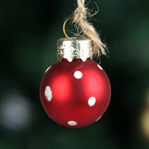 image is loading red glass christmas balls ornaments indoor decoration dia2 - Glass Christmas Balls