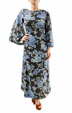 Free People Women's Melrose Printed Maxi Dress Black Blue Size XS RRP £139 BCF65