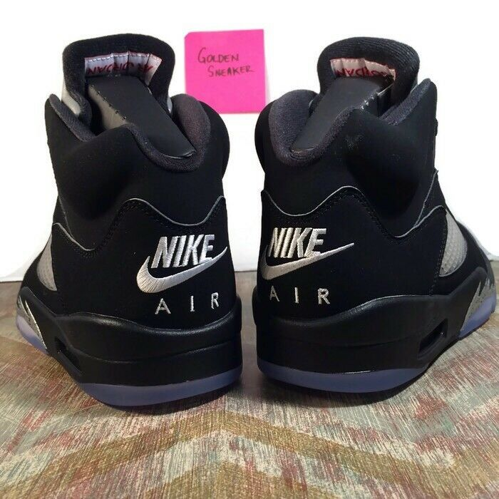 Nike Air Jordan Retro 5 V Black Metallic OG Size 10 W  Receipt 2016 845035-003