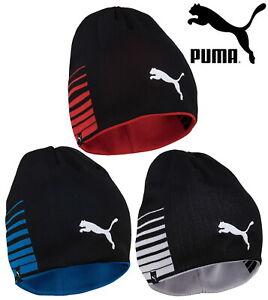 Puma-Men-039-s-LIGA-Reversible-Beanie-Chapeau-Chaud-d-039-Hiver-Sports-Caps