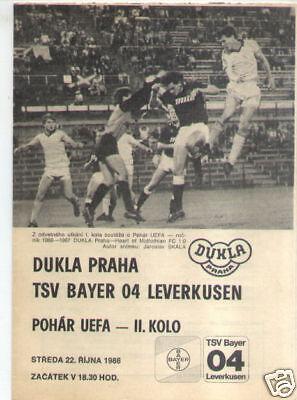 BL 85//86 Bayer 04 Leverkusen Eintracht Frankfurt