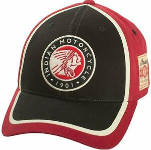 Indian Motorcycle Circle Patch Hat cap red black mens gift headdress warbonnet