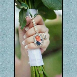 Image Is Loading Personalised Wedding Bouquet Charm Memory Memorial