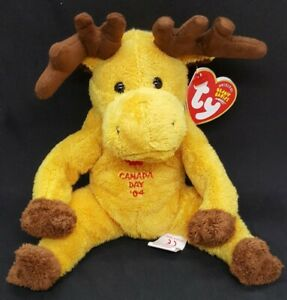TY 2004 DOMINION the CANADIAN MOOSE BEANIE BABY  - MWMT - TY EXCLUSIVE