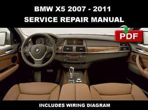 BMW X5 2007 - 2011 (E70) SERVICE REPAIR WORKSHOP MANUAL + WIRING ...