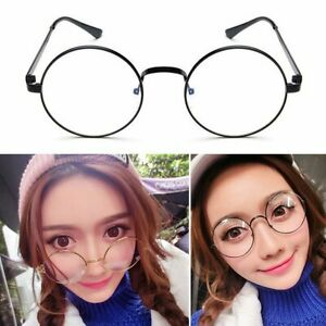365d4ed8ff Fashion Oval Round Clear Lens Glasses Vintage Geek Nerd Retro Style ...