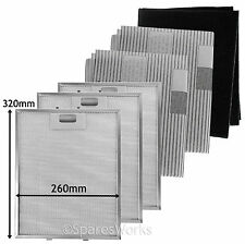 3 UNIVERSAL Cooker Hood Metal Mesh Extractor Grease Carbon Filters 320 x 260 mm