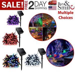 Solar-Powered-100-LED-String-Fairy-Lights-Garden-Patio-Lamp-Xmas-Decor-40ft-US