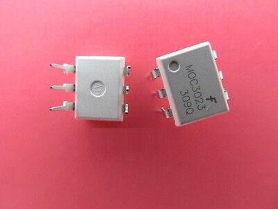 20PCS MOC3023 OPTOCOUPLER TRIAC-OUT 6-DIP FSC NEW