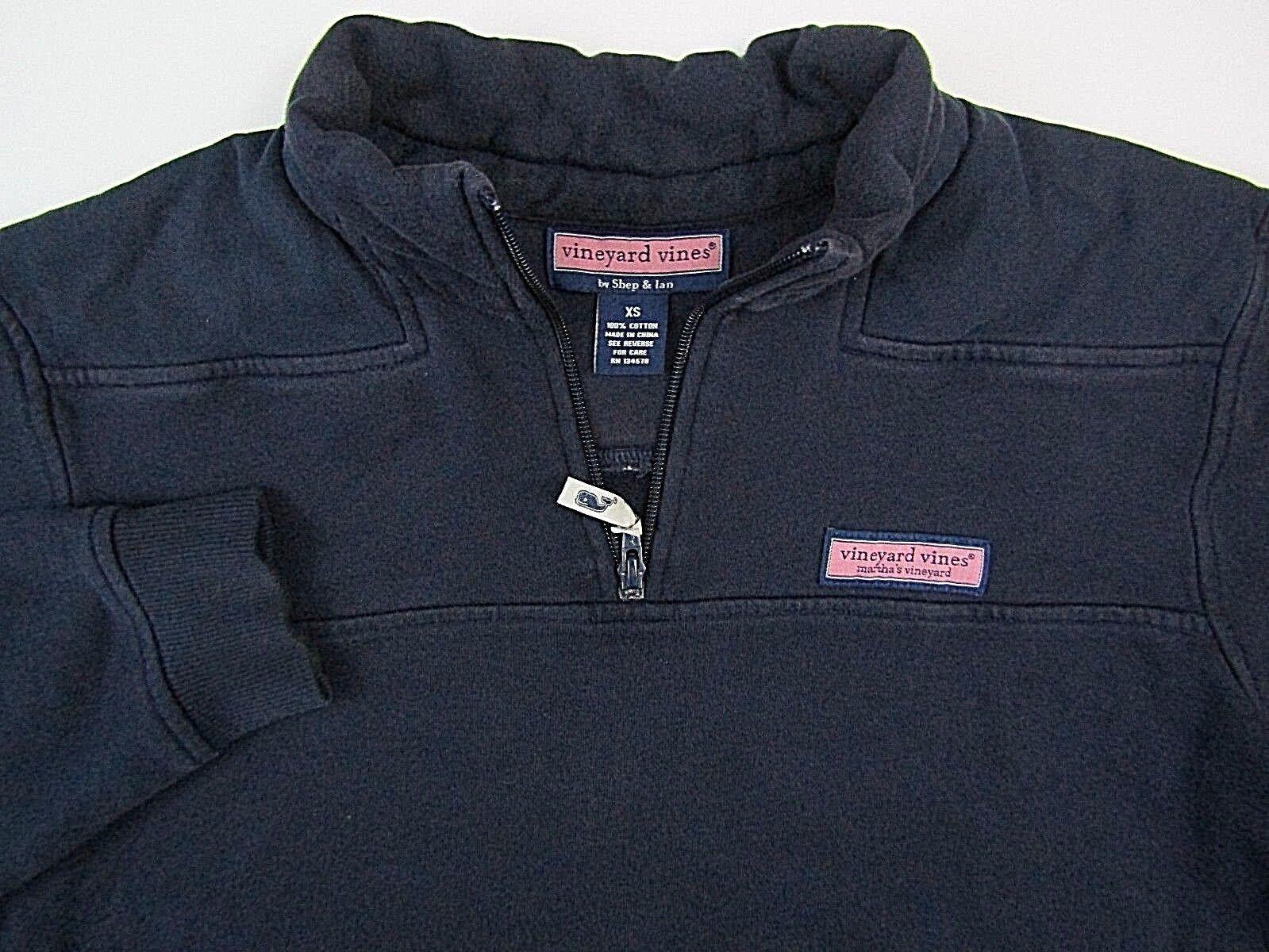 Vineyard Vines Shep & Ian  Herren Größe XS 1/2 Zip Pullover Sweatshirt