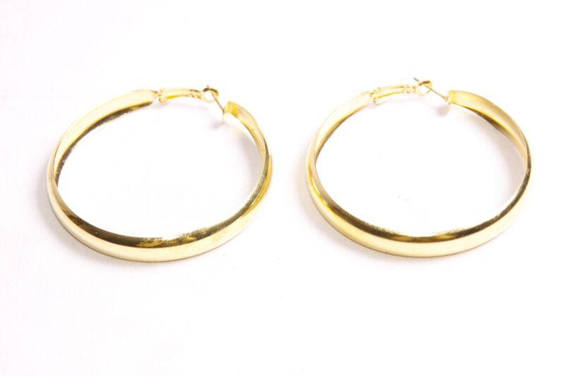 Wonderful Women Massive Shiny Gold Hoop Earrings Gypsy Style Inspired (s480)