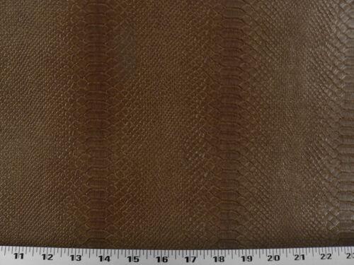 Vinyl Upholstery Fabric Expanded Back Textured Vinyl Snake Skin Bronze