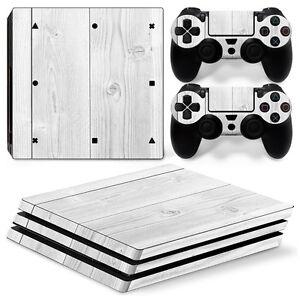 Details Zu Playstation 4 Ps4 Pro Skin Vinyl Design Folie Aufkleber Schutz Sticker Holz Weiß