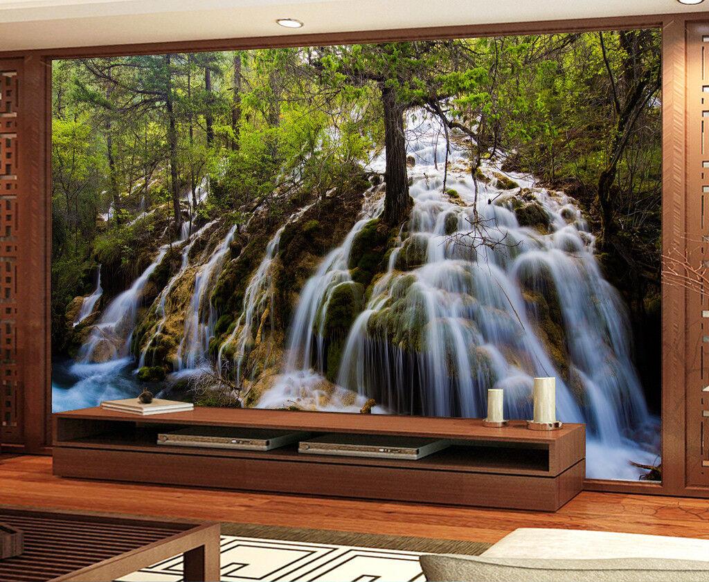 3D Wald Wasser 733 Tapete Tapeten Mauer Foto Familie Tapete Wandgemälde DE