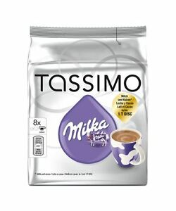 Details About Tassimo Milka Hot Chocolate Pod Capsulet Disc 8 Drinks