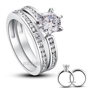 1.25 Karat Hochwertiger Verlobungsring Set 925 Silber Zirkonia Ring FR8103