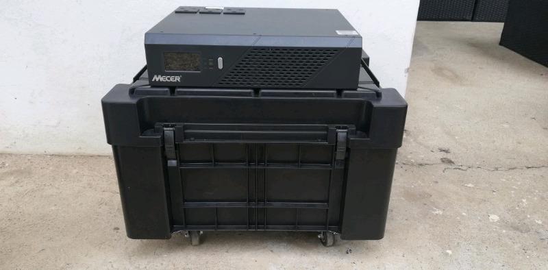 Mecer 2400VA /1440W Inverter with Enertec 105ah Batteries